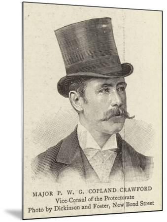 Major P W G Copland Crawford--Mounted Giclee Print