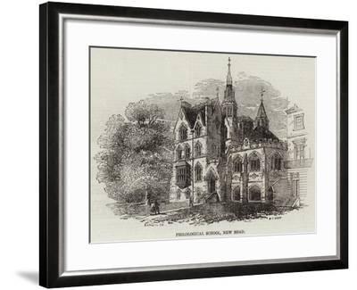 Philological School, New Road--Framed Giclee Print