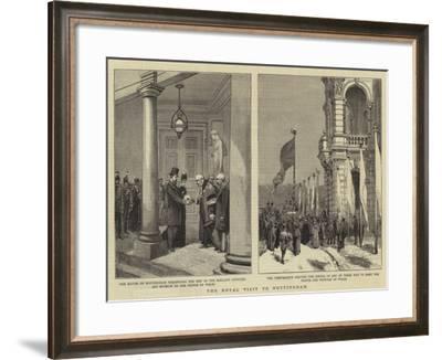 The Royal Visit to Nottingham--Framed Giclee Print