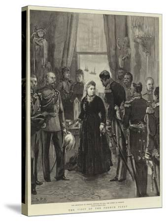 The Visit of the French Fleet--Stretched Canvas Print