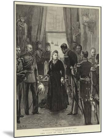 The Visit of the French Fleet--Mounted Giclee Print