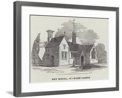 New School, at Friern Barnet--Framed Giclee Print