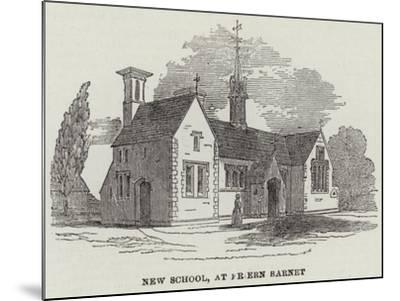 New School, at Friern Barnet--Mounted Giclee Print