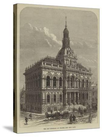 The New Townhall at Ipswich--Stretched Canvas Print