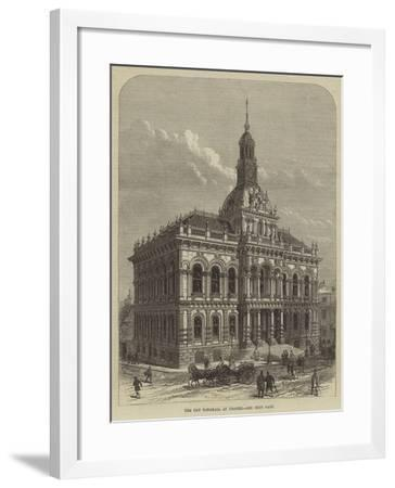 The New Townhall at Ipswich--Framed Giclee Print