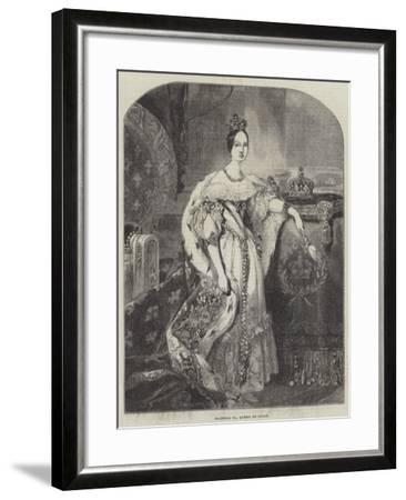 Isabella II, Queen of Spain--Framed Giclee Print
