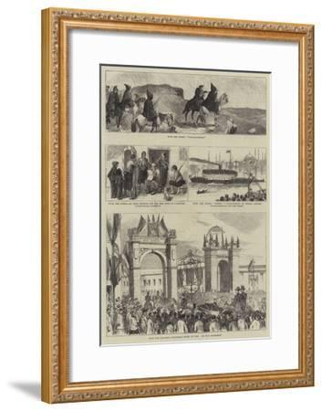 With the Russians and Turks--Framed Giclee Print