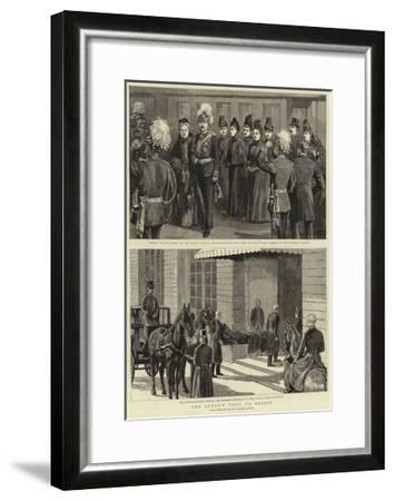 The Queen's Visit to Berlin--Framed Giclee Print