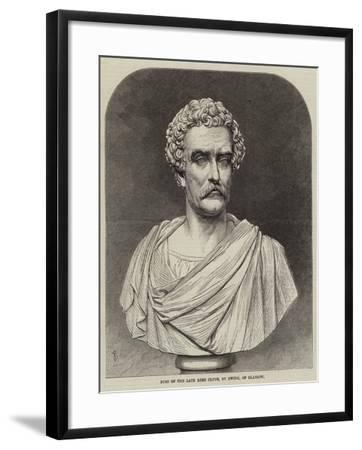 Bust of the Late Lord Clyde--Framed Giclee Print