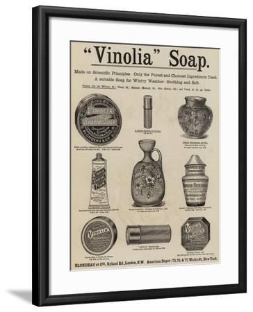 Advertisement, Vinolia Soap--Framed Giclee Print
