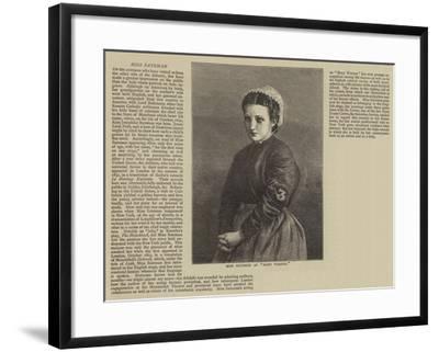 Miss Bateman as Mary Warner--Framed Giclee Print