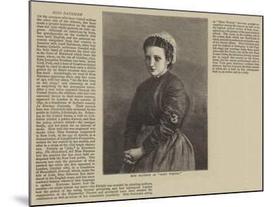 Miss Bateman as Mary Warner--Mounted Giclee Print