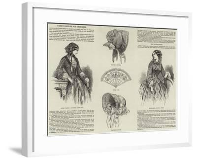 Paris Fashions for December--Framed Giclee Print