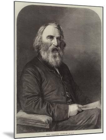 Henry Wadsworth Longfellow--Mounted Giclee Print