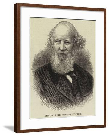 The Late Mr Cowden Clarke--Framed Giclee Print