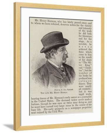 The Late Mr Henry Herman--Framed Giclee Print