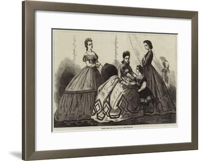 Paris Fashions for January--Framed Giclee Print