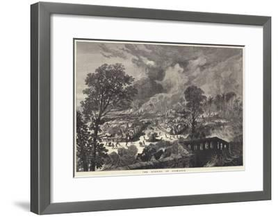 The Burning of Coomassie--Framed Giclee Print