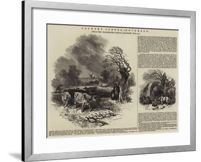Country Scenes, November--Framed Giclee Print