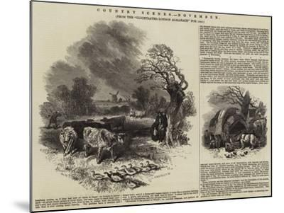 Country Scenes, November--Mounted Giclee Print