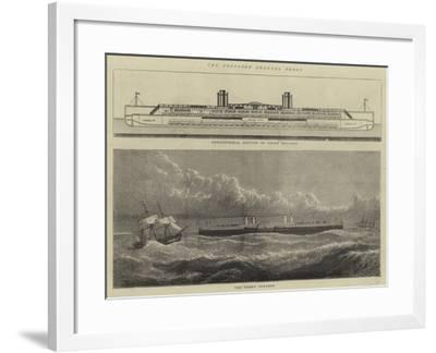 The Proposed Channel Ferry--Framed Giclee Print