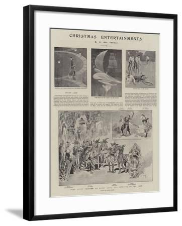 Christmas Entertainments--Framed Giclee Print