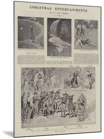 Christmas Entertainments--Mounted Giclee Print