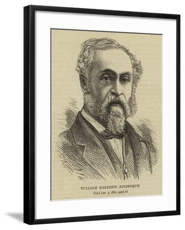 William Harrison Ainsworth--Framed Giclee Print