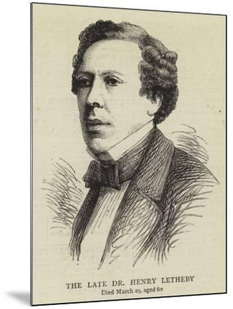 The Late Dr Henry Letheby--Mounted Giclee Print