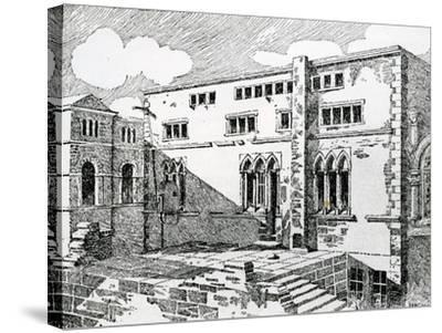 Ancient Synagogue at Metz--Stretched Canvas Print