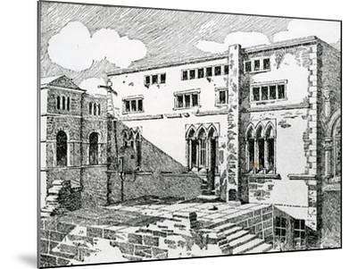 Ancient Synagogue at Metz--Mounted Giclee Print