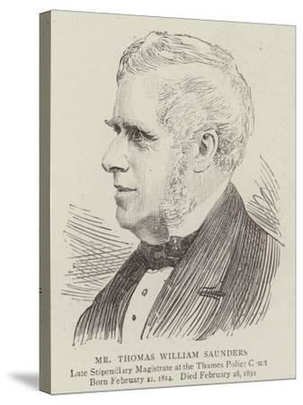 Mr Thomas William Saunders--Stretched Canvas Print