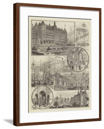 Hotel Metropole, Brighton--Framed Giclee Print