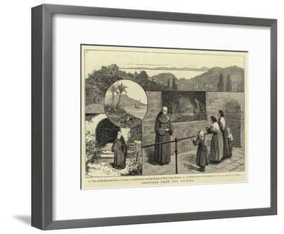 Sketches from the Riviera--Framed Giclee Print