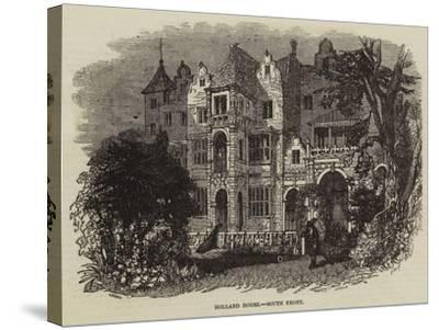 Holland House, South Front--Stretched Canvas Print