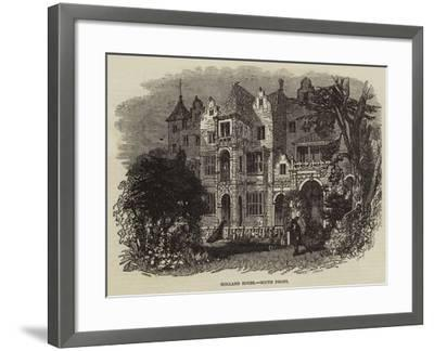 Holland House, South Front--Framed Giclee Print