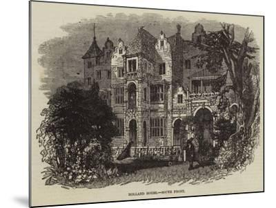 Holland House, South Front--Mounted Giclee Print