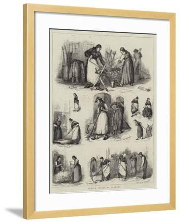 Female Labour in Germany--Framed Giclee Print