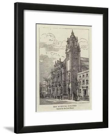 New Municipal Buildings--Framed Giclee Print