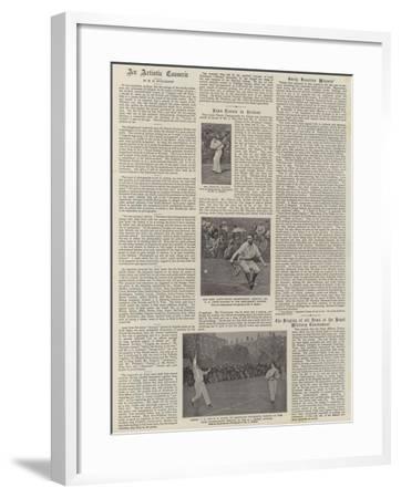 Lawn Tennis in Ireland--Framed Giclee Print