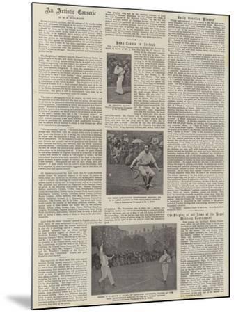 Lawn Tennis in Ireland--Mounted Giclee Print