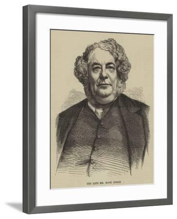 The Late Mr Mark Lemon--Framed Giclee Print