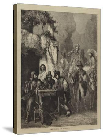 Travellers and Brigands--Stretched Canvas Print