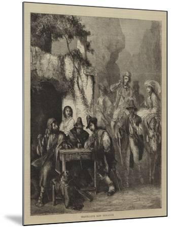 Travellers and Brigands--Mounted Giclee Print