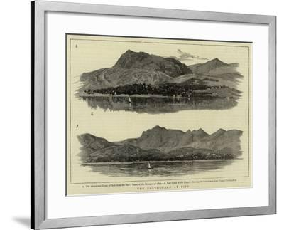 The Earthquake at Scio--Framed Giclee Print
