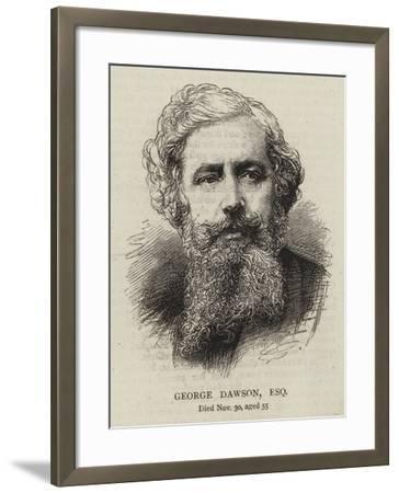 George Dawson, Esquire--Framed Giclee Print
