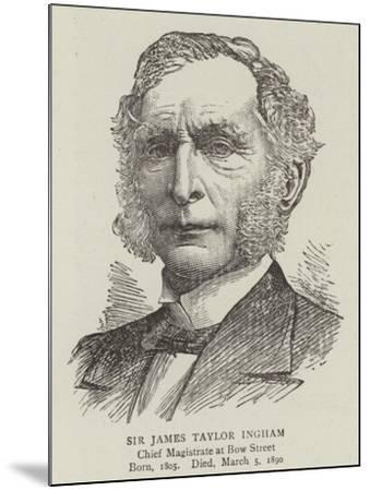 Sir James Taylor Ingham--Mounted Giclee Print
