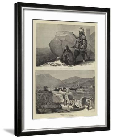 Afghanistan Illustrated--Framed Giclee Print