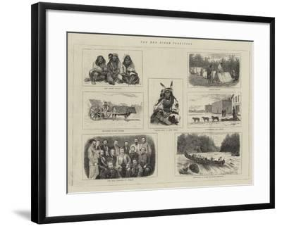 The Red River Territory--Framed Giclee Print