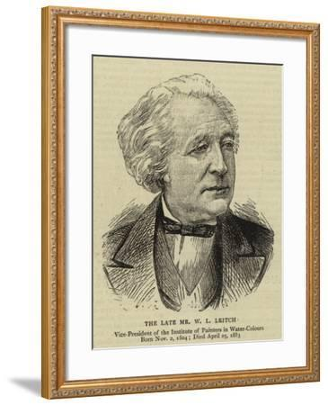The Late Mr W L Leitch--Framed Giclee Print